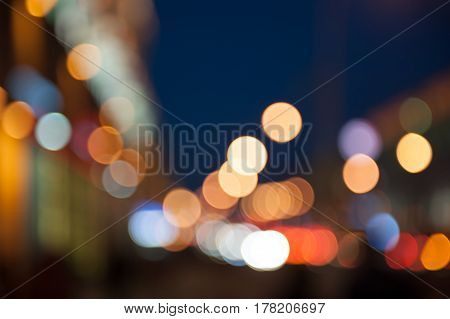 Bokeh background, street, road, sun cars lights evening summer