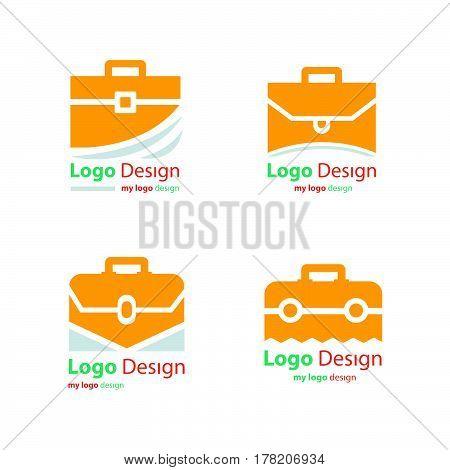 business bag icons set vector design support eps10.