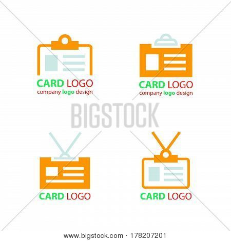business id card icons set vector design support eps10.