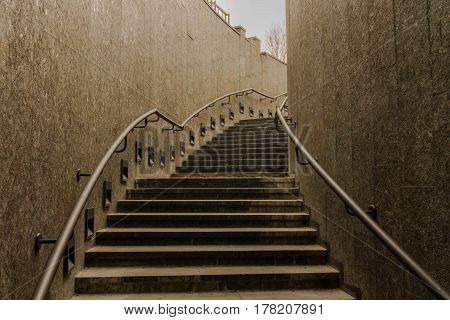 Stairs Up. Dark Stairs. Transition.