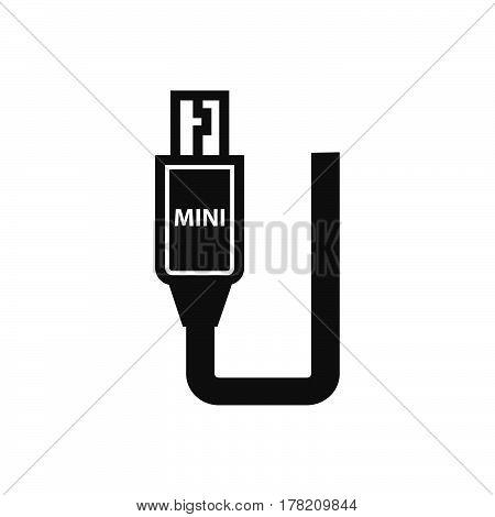 Mini HDMI Adapter Black icon vector design support file eps10.