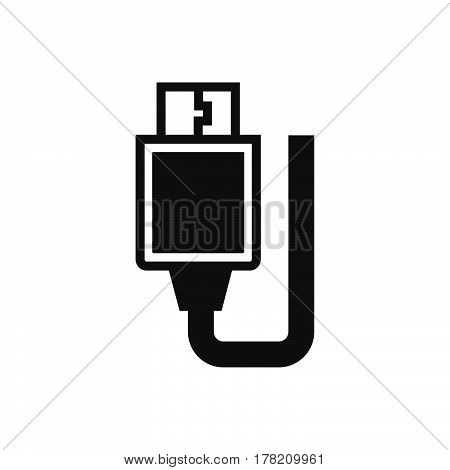 USB Adapter Black icon vector design support file eps10.