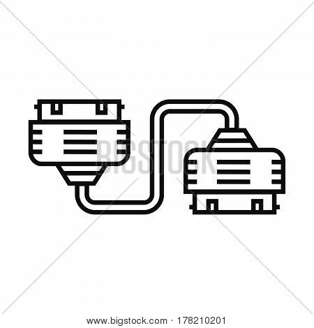 Twin Adapter icon vector design support file eps10.