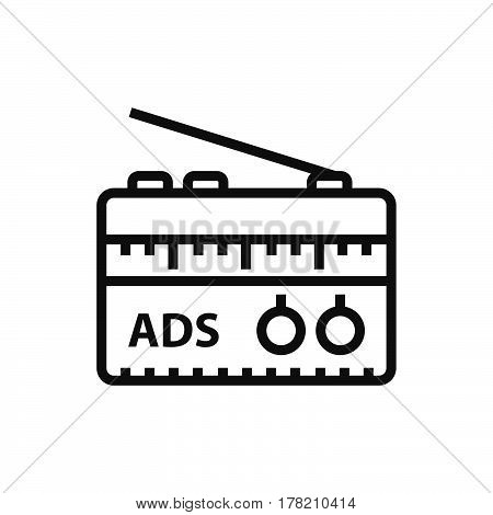 Radio Advertisement icon vector support file eps10.