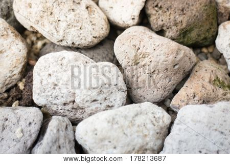 Abstract Background With Dry Pebble Stones stock photo