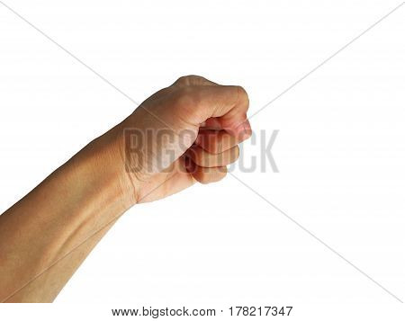 show hand is gesture symbol on white background