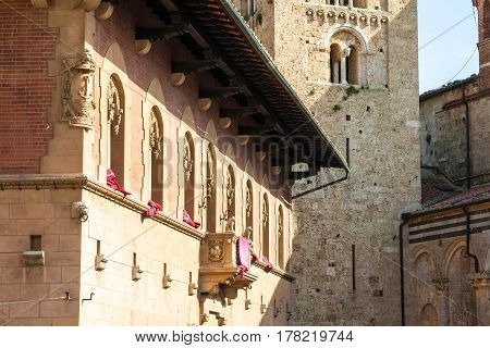 bishop's palace near the duomo in Massa Marittima Tuscany