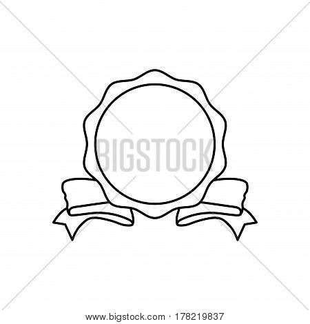 Decorative banner emblem icon vector illustration graphic design
