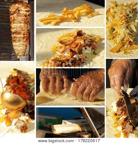 Chef to cook doner, traditional Turkish food