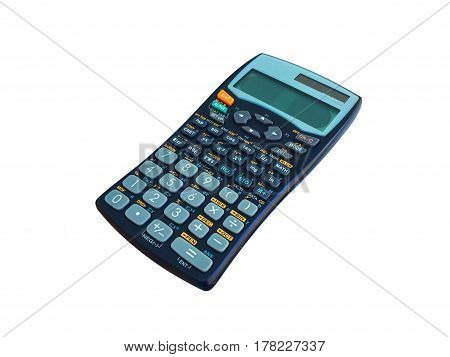 calculator on a white background modern art