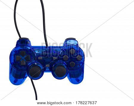 blue joy stick on a white background