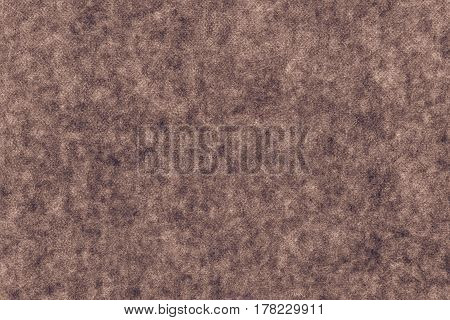 abstract background and texture of soft fabric or textile material of brown color