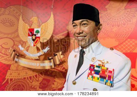 Bangkok - Jan 29: A Waxwork Of Soekarno On Display At Madame Tussauds On January 29, 2016 In Bangkok