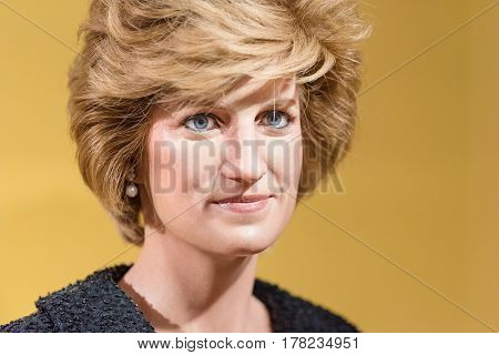 Bangkok - Jan 29: A Waxwork Of Diana Queen On Display At Madame Tussauds On January 29, 2016 In Bang