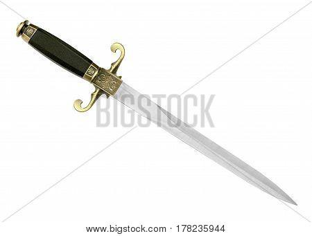 Dagger Fantasy Adventure. Sword On White Background