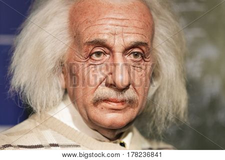 Bangkok - Jan 29: A Waxwork Of Albert Einstein On Display At Madame Tussauds On January 29, 2016 In