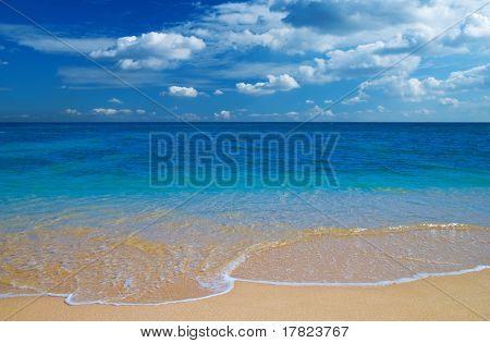 Tropical blue water beach paradise