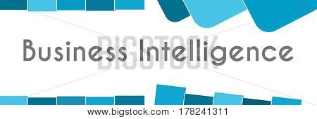 Business intelligence optimization text written over blue background.