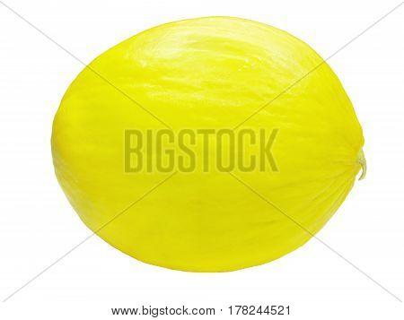 yellow honeymelon tropical fruit isolated on white background