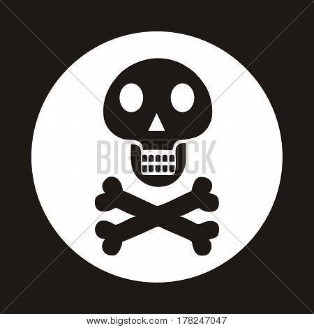 Skull and crossbones. flat Icon Vector illustration