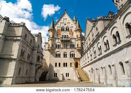 Neuschwanstein Castle. View From Location Of Unrealized Chapel