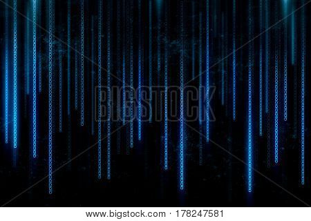 Abstract background created with blue binary code line