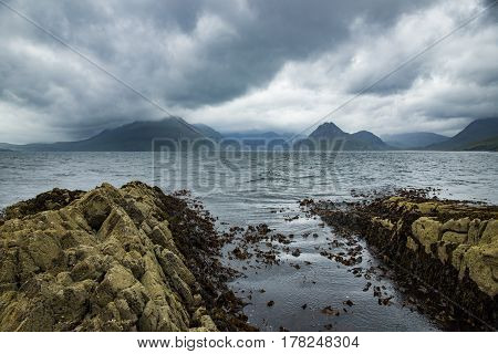 Storm clouds Above The Cuilin From Elgol, Isle Of Skye