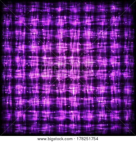 Glowing Checkered Pattern with Light Effect. Violet Bright Abstract Background for Site Web App Program.