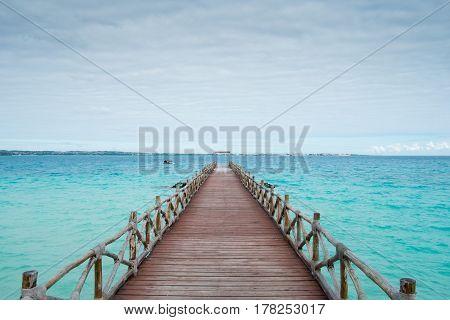 Pier on Zanzibar in the Indian Ocean