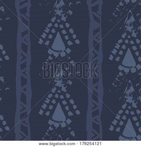 Abstract Hand Drawn Simple Vector Ethnic Seamless Pattern Textur