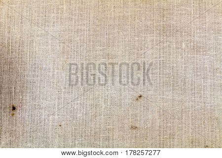 Old textile texture closeup with dirty spots. Abstract background