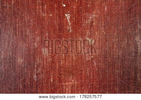 Vintage brown textile texture with stains and fading. Abstract background