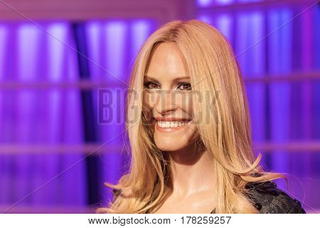 Bangkok -jan 29: A Waxwork Of Julia Roberts On Display At Madame Tussauds On January 29, 2016 In Ban
