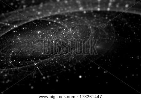 Deep space with trajectories texture computer generated abstract background 3D rendering