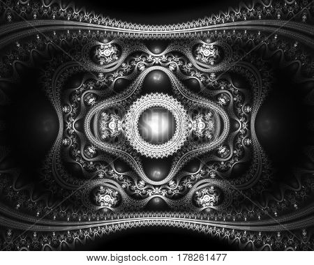 Grand julian fractal intensity map computer generated abstract background 3D rendering