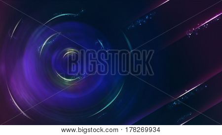 Abstract Blue sci-fi theme background 16:9 ratio.