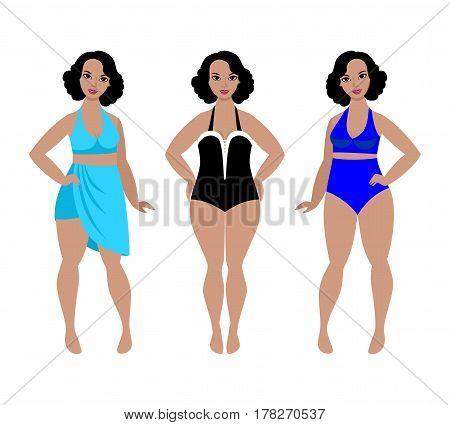 Swimsuit models for plus size women beautiful curvy girls in swimwear