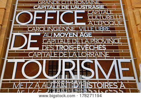 Metz France - july 25 2016 : the picturesque tourism office