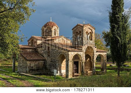 The church of Samarina dedicated to Mary, Mother of God, in Peloponnese, Greece