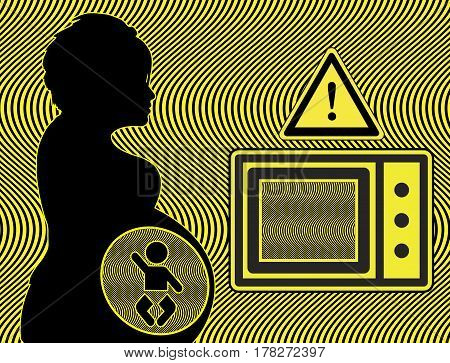 Microwaves and Pregnancy. Electromagnetic waves may harm the unborn baby