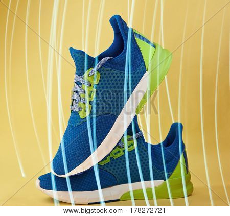 Colorful Pair Of Running Shoes