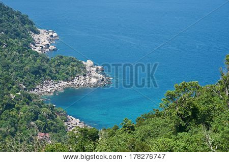 Blue Bay view of Koh Tao Thailand