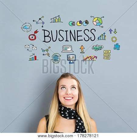 Business Concept With Happy Young Woman