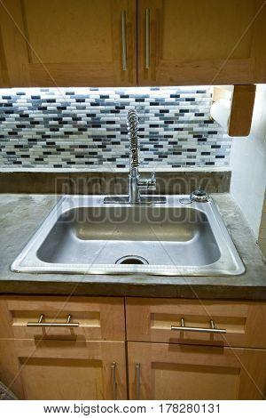 Spotless Clean Metal Sink
