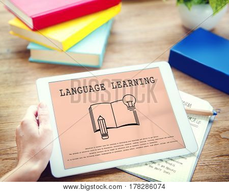 Language Learning Mastering Education Concept