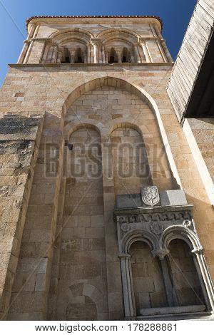 Avila (Castilla y Leon Spain): historic church of San Vicente exterior