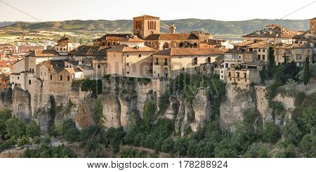 Cuenca (Castilla-La Mancha Spain) the famous casas colgadas Unesco World Heritage SIte
