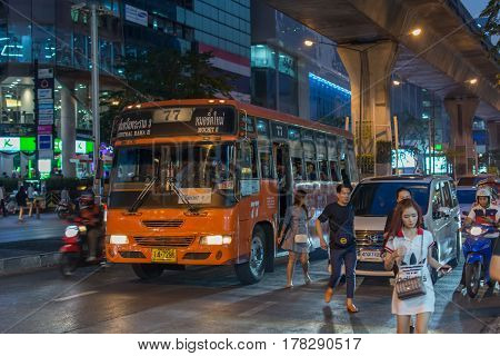 Bus In Bangkok Thailand