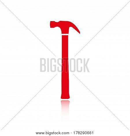 hammer icon stock vector illustration flat design