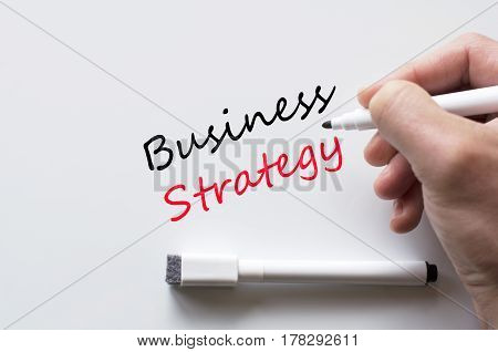 Business Strategy Written On Whiteboard